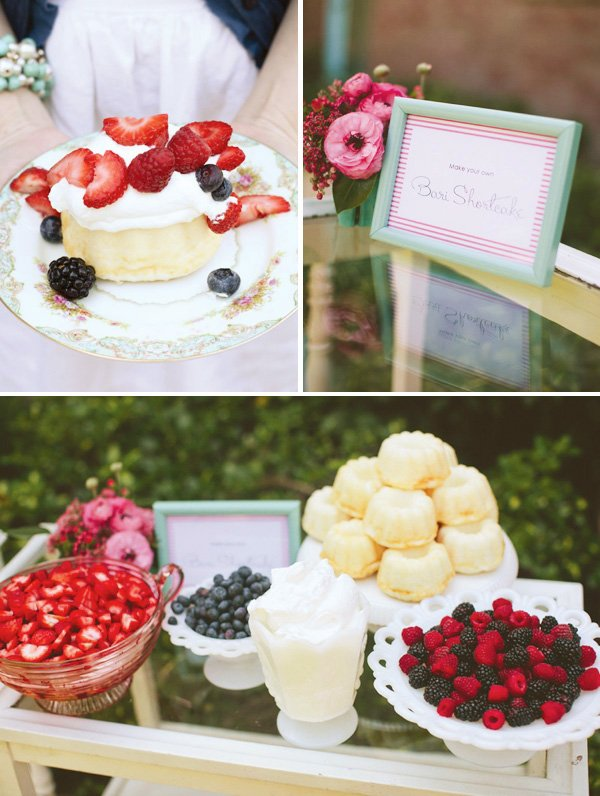 Shortcake Bar for a Bridal or Baby Shower