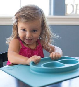 "ezpz ""Happy Mat"" Silicone Feeding Mat"