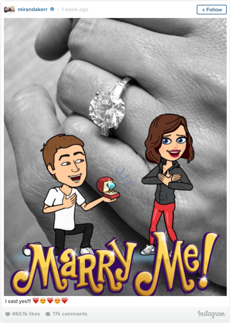 Miranda Kerr and Evan Spiegel - Marry me Instagram