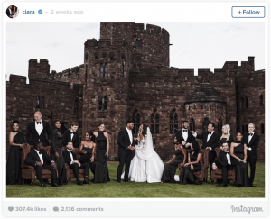Russell Wilson and Ciara Wedding