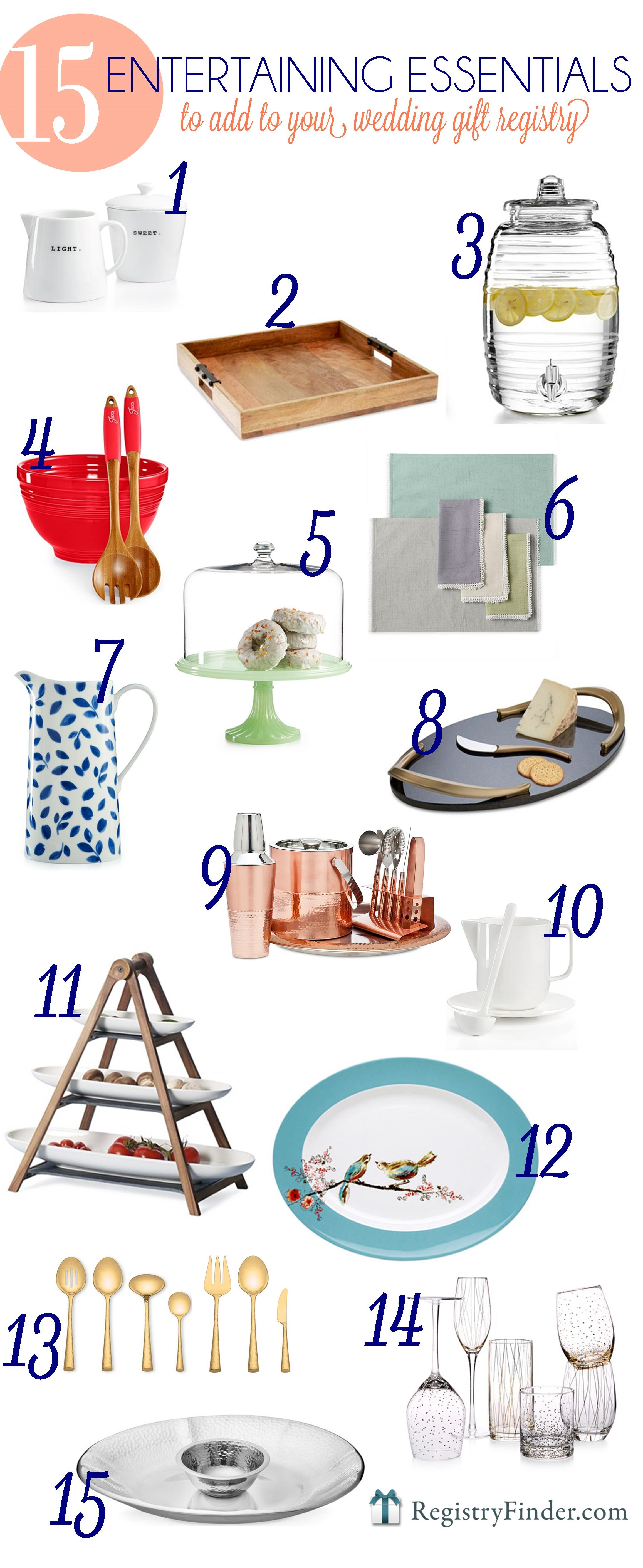 Must Have Entertaining Essentials for your Registry