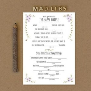 Fun Games and Activities that Will Keep Your Wedding Guests Entertained | Wedding Mad Libs