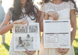 Fun Games and Activities that Will Keep Your Wedding Guests Entertained | Newspaper Style Wedding Program