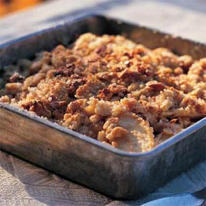 Light and Healthy Thanksgiving Sides and Desserts | Maple Walnut Apple Crisp