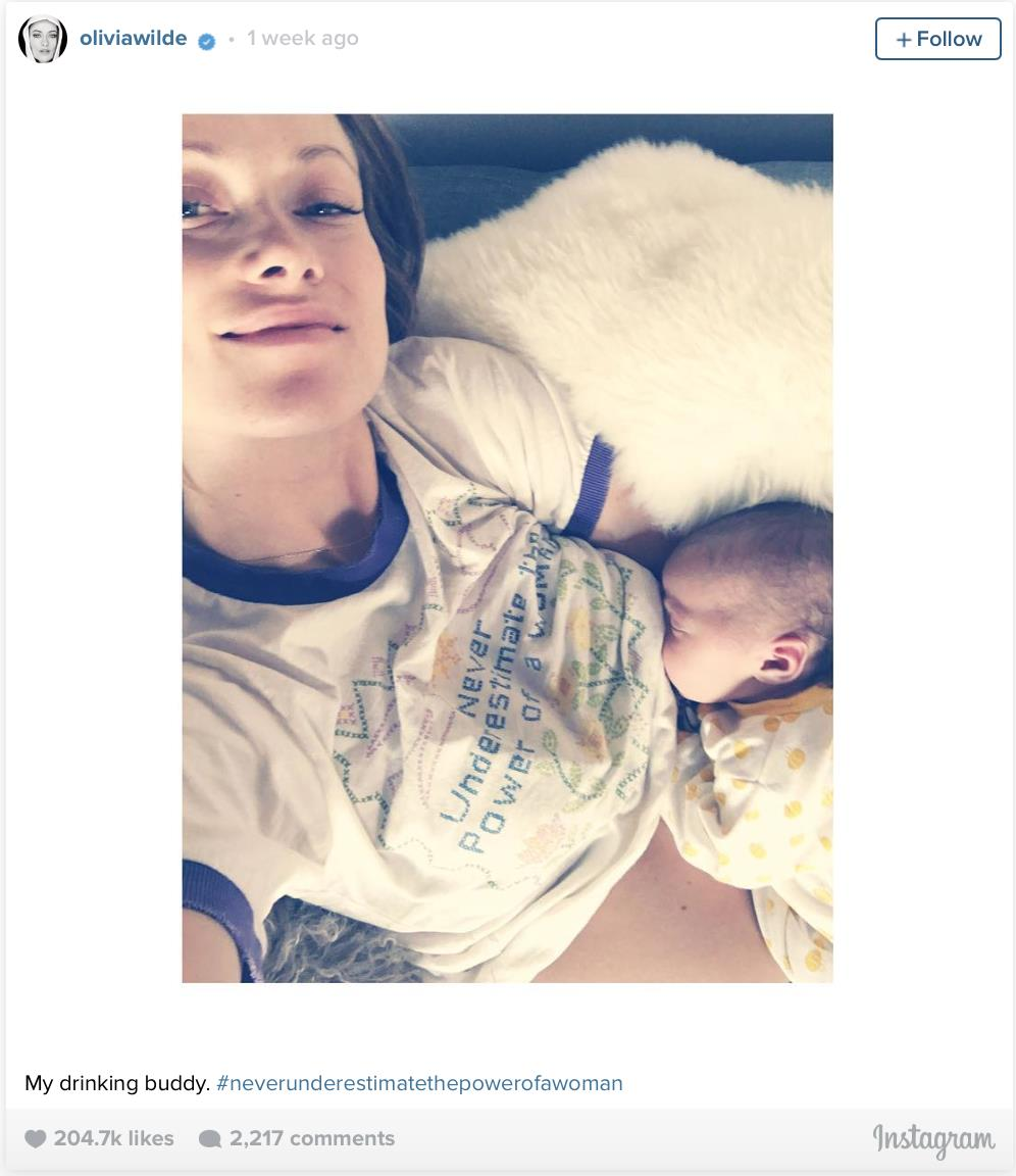 Olivia Wilde and Jason Sudeikis share newborn pictures with their followers
