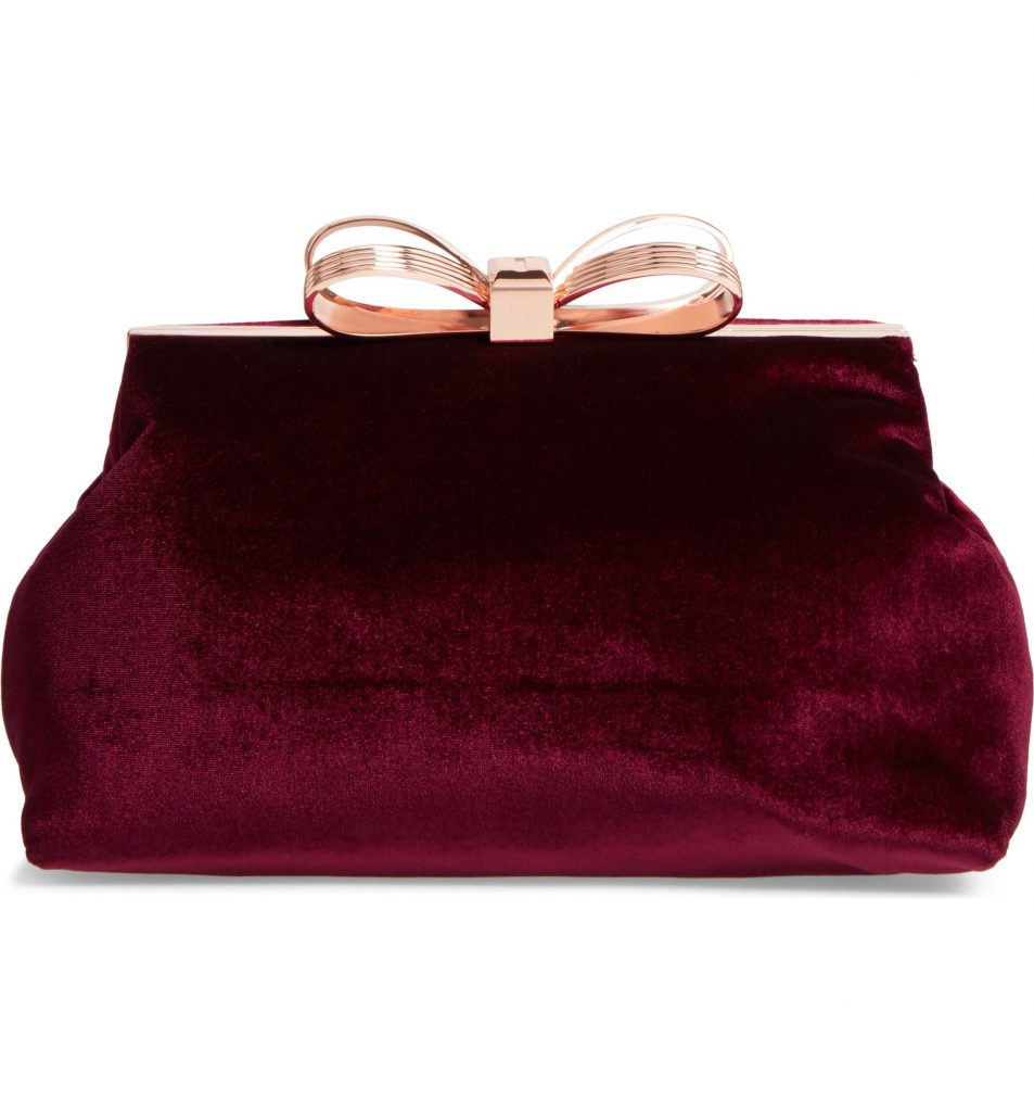 Winter Wedding Accessories | Velvet Clutch
