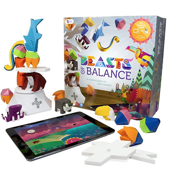 Beasts of Balance - A Digital Tabletop Hybrid Family Stacking Game