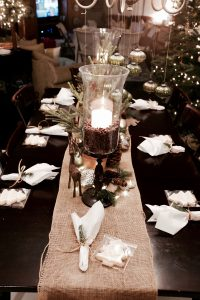Winter Bridal Shower Tablescape | Holiday Centerpiece | Christmas Table Decorations