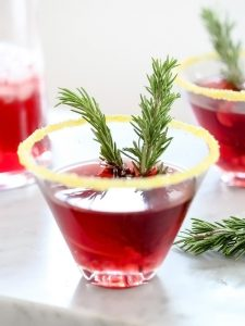 Mix up this easy and delicious Pomegranate Martini | Simple and Delicious Holiday Recipes from RegistryFinder.com