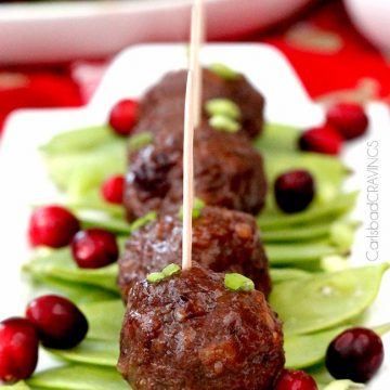Easy and delicious recipes to help you win the holidays this year! | Sweet and Spicy Cranberry Meatballs