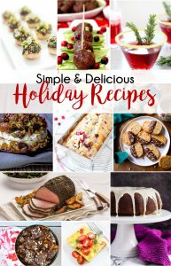 Try these simple and delicious holiday recipes to help you win the holidays this year!   Simple and Delicious Holiday Recipes from RegistryFinder.com