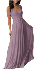 Amazon dress dusty mauve