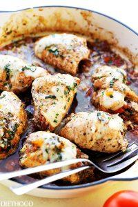 Bruschetta Stuffed Balsamic Chicken | Entertaining Recipes | Valentine's Day Dinner