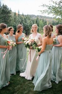 flowy bridesmaid dresses