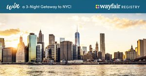 Wayfair Wedding Registry | Win a Trip