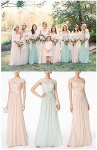 Bridesmaid Dress Ideas   Pastel Bridesmaid Dresses   Range of color bridesmaid dresses   Farm Wedding Inspiration