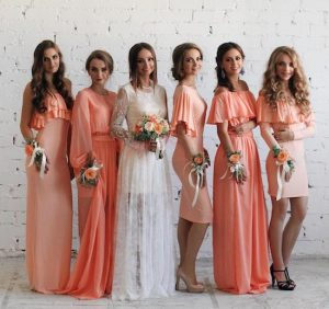 etsy peach dresses