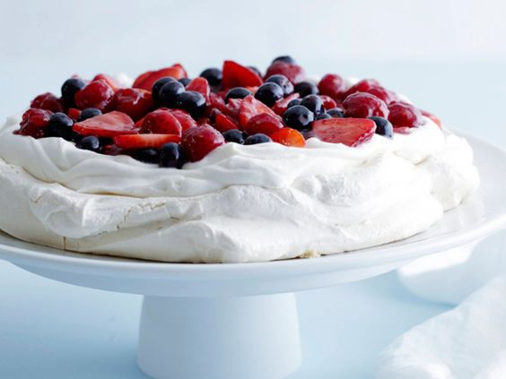 Mixed Berry Pavlova | Entertaining Recipes | Valentine's Day Dinner