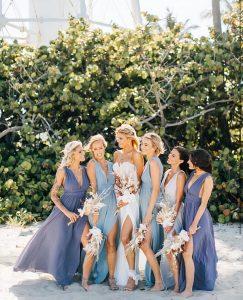 Same dress, different colors bridesmaid dresses