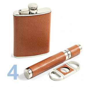 What to Buy Groomsmen | Flask and Cigar Set | Gifts Men Will Love