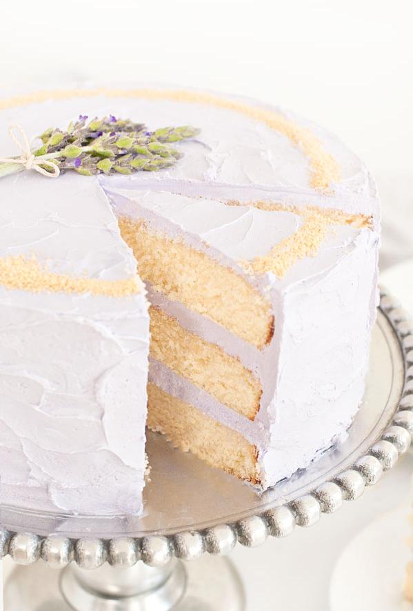 Honey Lavender Cake | Spring Bridal Shower and Baby Shower Menu | RegistryFinder.com