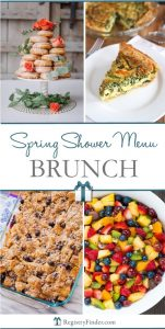 Spring Shower Menu Brunch