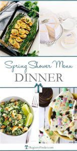 Spring Shower Menu Dinner