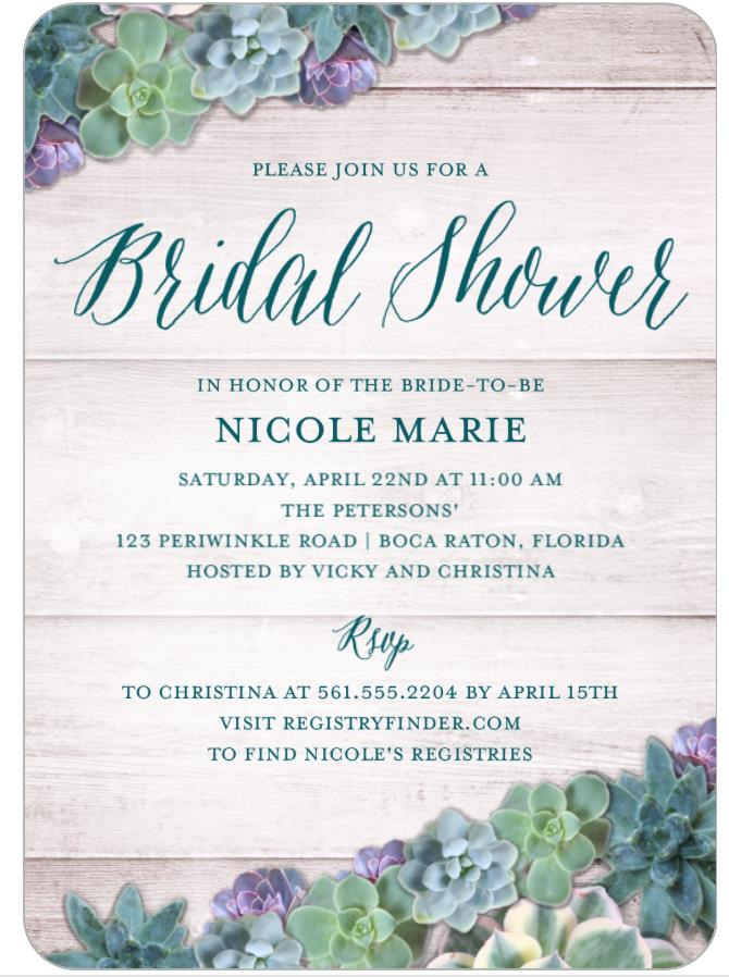 Bridal Shower Invitation | How to find a bridal registry