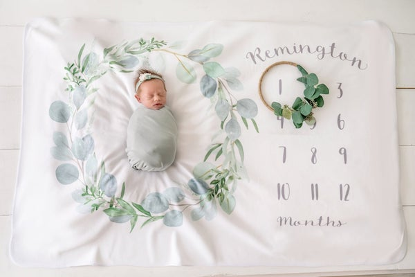 Best Personalized Baby Gifts | Baby Milestone Blanket