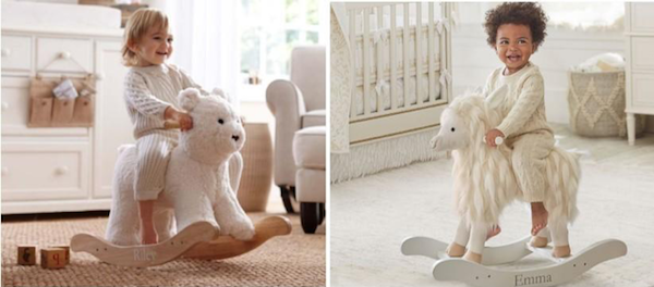 Personalized Baby Gifts | Plush Animal Rocker