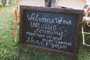 Unplugged Weddings | Chalkboard Wedding Sign | Wedding Etiquette