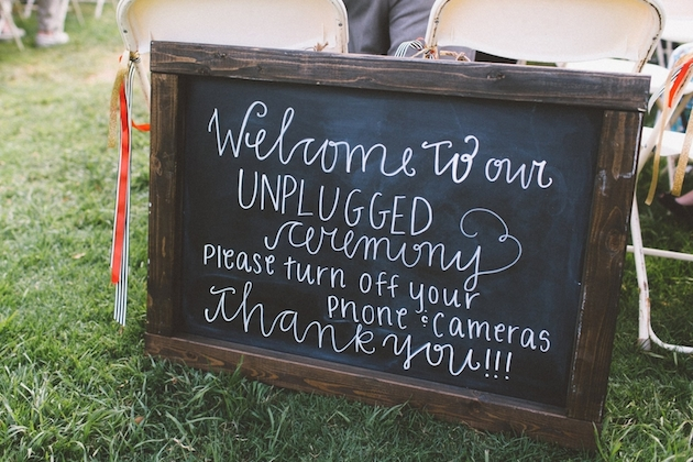 Unplugged Weddings | Chalkboard Wedding Sign | Wedding Etiquette