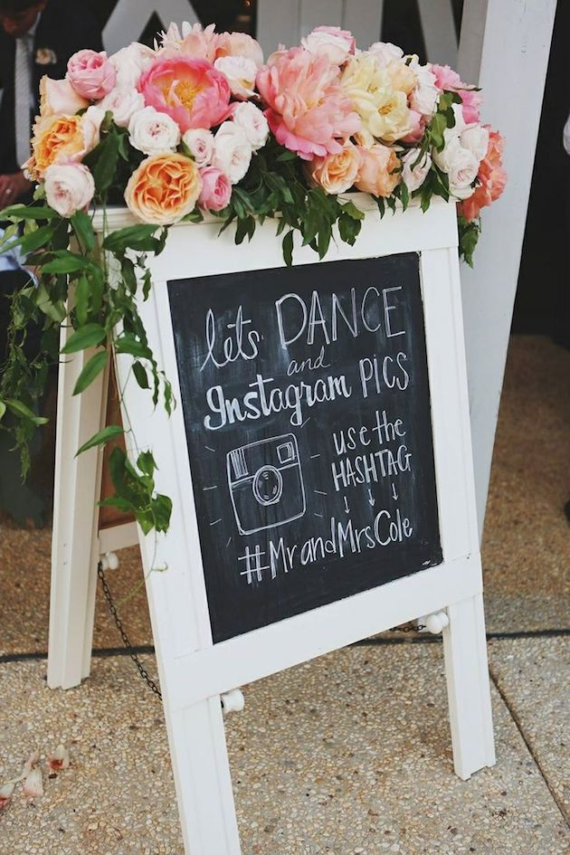 Wedding Hashtag Ideas | How to Use a Wedding Hashtag | Chalkboard Wedding Signs