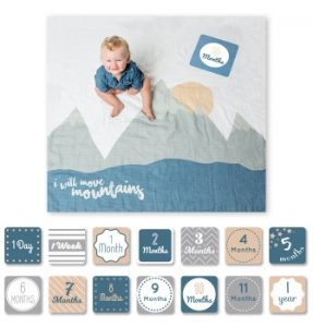 Swaddle Blanket and Monthly Cards Set | 2017 Best New Baby Products