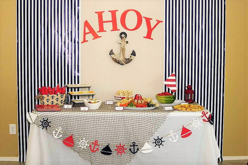 Nautical Theme | Guy-Friendly Co-Ed Baby Shower