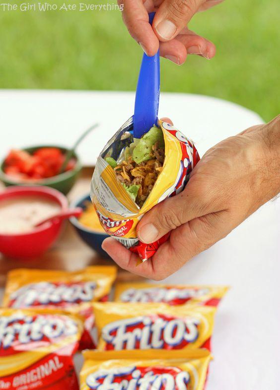 Set Up A Walking Taco Bar | Graduation Party Ideas