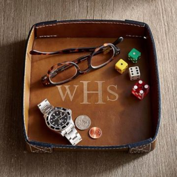 Monogram Gift | Beckett Leather Catchall