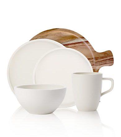 Villeroy & Boch Artesano Dinnerware | Simple white place setting | Belk's Top Wedding Registry Items