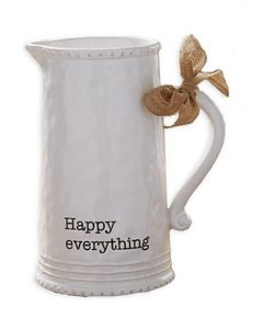Register at Belk | Mud Pie Happy Pitcher | Mud Pie Home