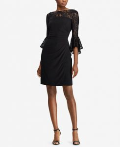 Lauren Ralph Lauren Lace-Trim Dress, Regular & Petite