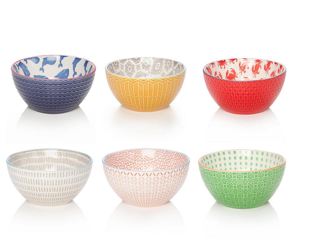 Best Belk Wedding Gifts | Pflatzgraff Mix & Match bowl set | Colorful bowls | Patterned bowls