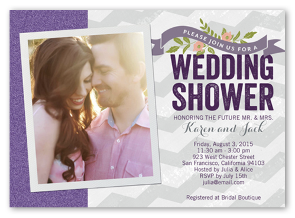 Couples Shower Invitation | Ask Cheryl Article about Invitations to Couples Showers | RegistryFinder.com