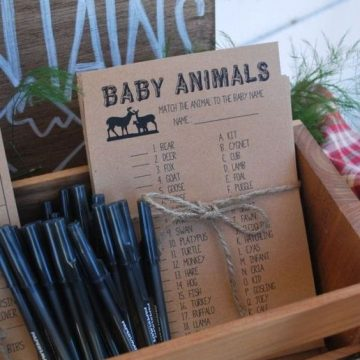 Match the animal baby shower game | Animal baby shower theme