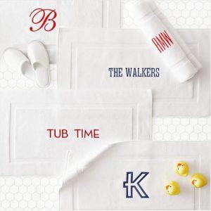 Monogram Gift   Thick White Bath Mat