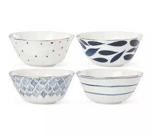Lenox® Blue Bay Set of 4 All Purpose Bowls