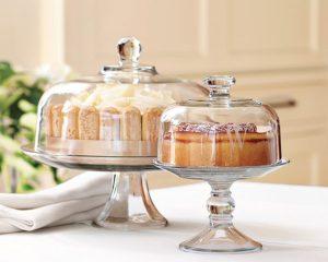 Monogram Gift | Glass Domed Cake Plate/Punch Bowl