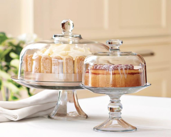 Glass Domed Cake Plate/Punch Bowl
