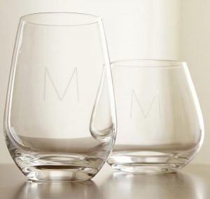 Monogram Gift | Schott Zwiesel Stemless Wine Glasses