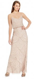 Macy's Formal Dresses | Adrianna Papell Spaghetti-Strap Beaded Blouson Gown