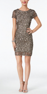 What to Wear to a Dressy Wedding | Adrianna Papell Beaded Cap-Sleeve Sheath Dress